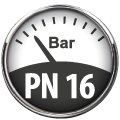 Pression nominale 16 bar