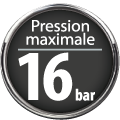 Pression maximale 16 bar