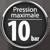 Pression maxi 10 bar